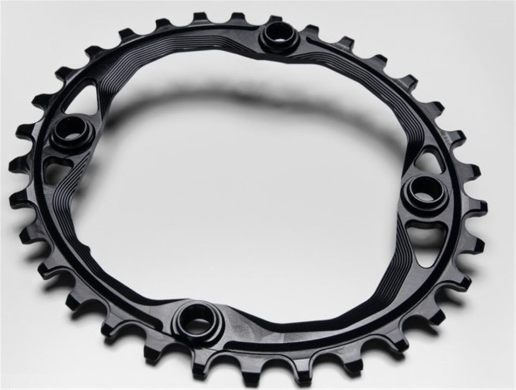 EKFAN  36T OVAL CHAINRING FOR 1x10 OR 1x11 CNC MACHINED BLACK